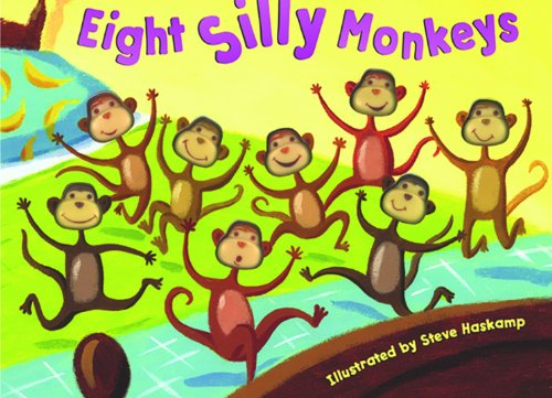 9781581171860: Eight Silly Monkeys Jumping on the Bed