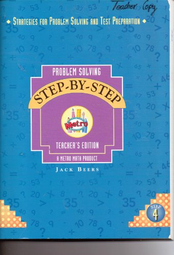 Problem Solving Step by Step (4) Teacher's edition (Teacher's edition): Jack Beers