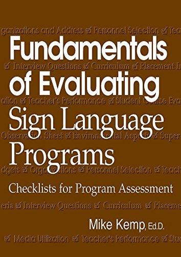 9781581210088: Fundamentals of Evaluating Sign Language Programs: Checklists for Program Assessment