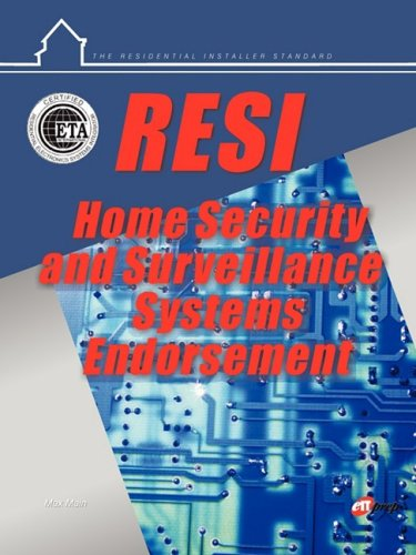 9781581221046: RESI Home Security and Surveillance Systems Endorsements