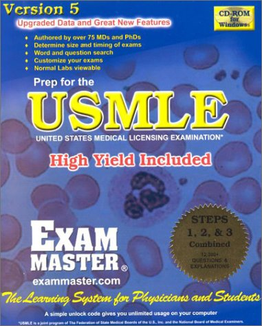 USMLE Steps 1, 2, and 3 Combined - CD: Exam Masters Corporation Editors