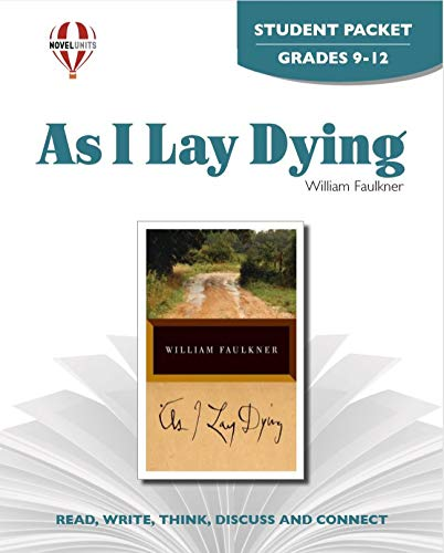 9781581305548: As I Lay Dying - Student Packet by Novel Units