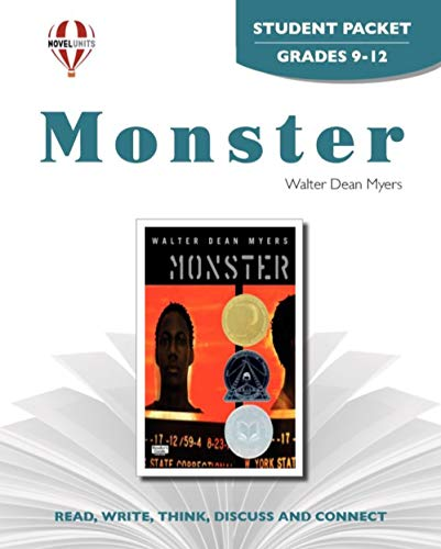 9781581306897: Monster - Student Packet by Novel Units, Inc.