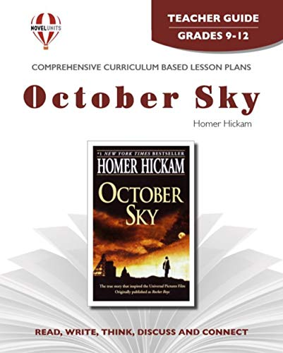 9781581308167: October Sky - Teacher Guide by Novel Units