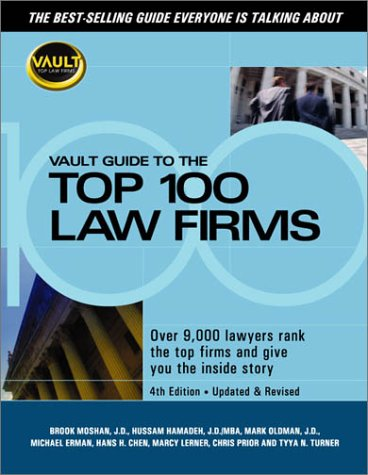 9781581311266: Vault Guide to the Top 100 Law Firms
