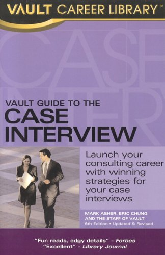 9781581313055: Vault Guide to the Case Interview
