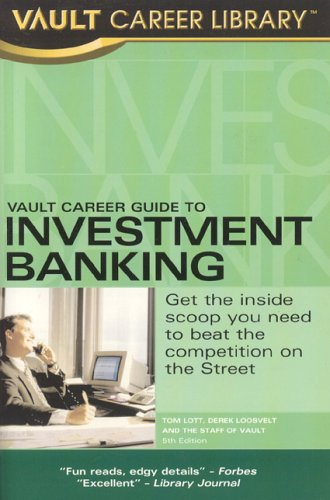9781581313062: Vault Career Guide To Investment Banking