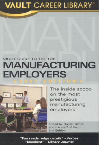 9781581314052: Vault Guide to the Top Manufacturing Employers