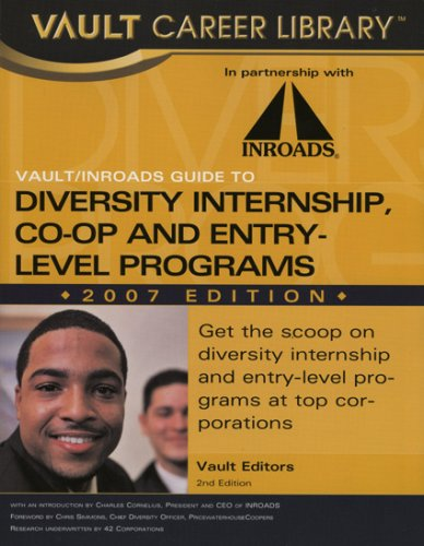 9781581314397: Vault/INROADS Guide to Minority Entry-Level and Internship Programs (Vault/Inroads Guide to Diversity Internship Co-Op & Entry-Level Programs)
