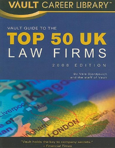 9781581314892: Vault Guide to the Top 50 United Kingdom Law Firms (Vault Top Law Firms)