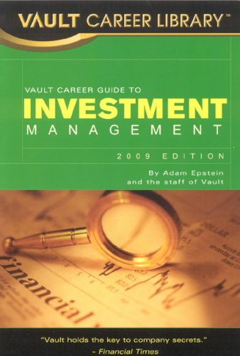 9781581315615: Vault Career Guide to Investment Management (Vault Career Library)