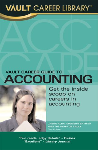 9781581315912: Vault Career Guide to Accounting (Vault Career Library), 3rd Edition