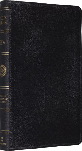 ESV Classic reference Bible, Genuine leather, Black Red Letter Text: Good News Publishing