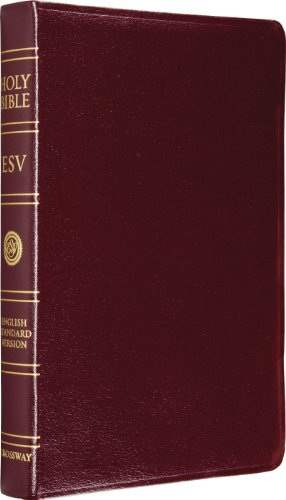 ESV Classic Reference Bible, Genuine Leather, Burgundy, Red Letter Text