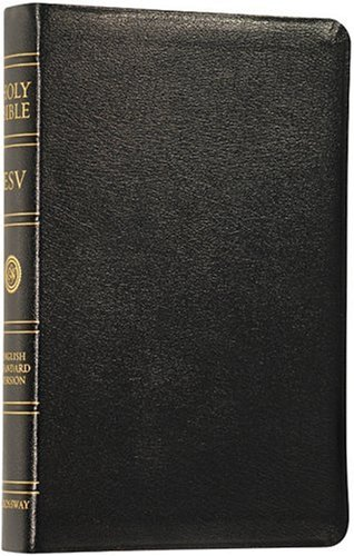 9781581343465: ESV Classic Reference Bible, Genuine Leather, Black, Red Letter Text, Thumb Indexed