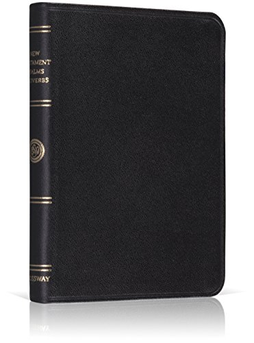 9781581345995: The New Testament with Psalms and Proverbs: English Standard Version (Premium Black Bonded Leather, Red Letter Text)