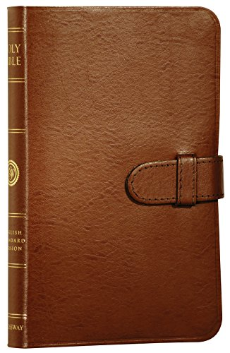 9781581346015: ESV Compact Bible, Premium Bonded Leather, British Tan, Red Letter Text, Slide Tab Closure