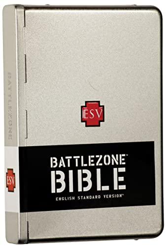 9781581346381: ESV BattleZone Bible, Brushed Metal, Cross Design