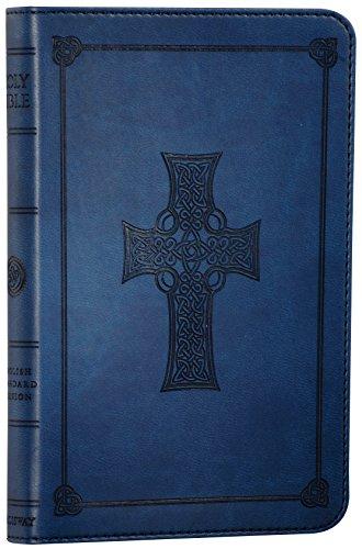 9781581346428: ESV Compact Bible, TruTone, Royal Blue, Celtic Cross Design, Red Letter Text