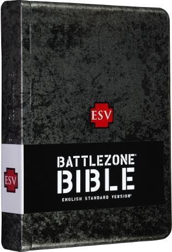 9781581347074: ESV BattleZone Bible, Weathered Metal, Cross Design