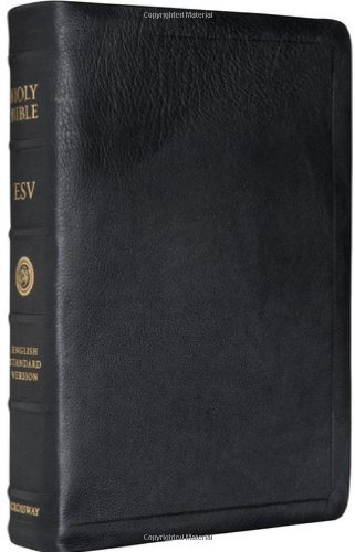 9781581348217: ESV Single Column Reference Bible premium Calfskin leather (Black)