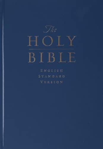 9781581349030: ESV Pew and Worship Bible, Large Print (Navy Blue)