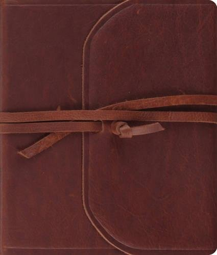9781581349658: Holy Bible: English Standard Version, Natural Brown Leather, Flap With Strap, Journaling Bible