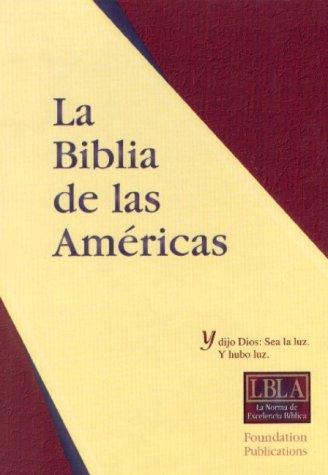 9781581350098: La Biblia de las Americas (LBLA) Handy Size Large Print; Burgundy Imitation Leather