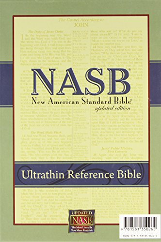 9781581350265: New American Standard Ultrathin Reference Bible; Black Genuine Leather
