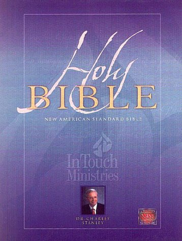 9781581350692: NASB Update In Touch Ministries Wide Margin Edition; Genuine Leather; Black
