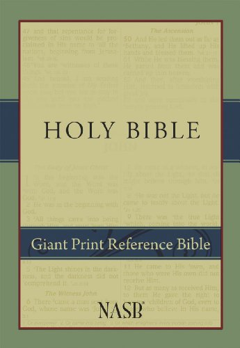 9781581351040: NASB Giant-Print Reference Bible: Indexed