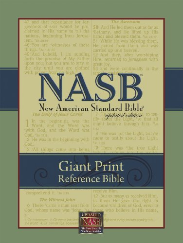 9781581351064: NASB Giant-Print Reference Bible: Indexed (Burgundy Imitation Leather)