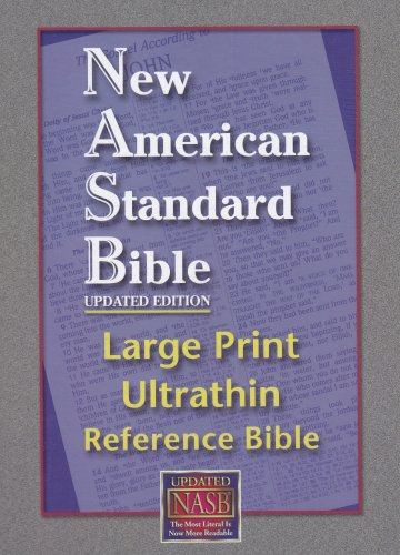 Large Print Ultrathin Reference Bible-NASB [With Velvet: Foundation Publication Inc