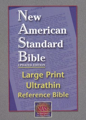 9781581351255: Large Print Ultrathin Reference Bible-NASB