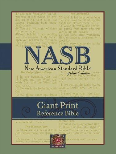 NASB Giant Print Reference Bible (Black Genuine