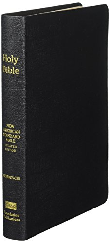 NASB Large Print Ultrathin Reference Bible (Black,: Foundation, The Lockman