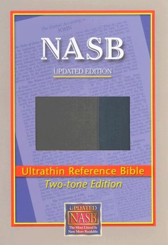 NASB Ultrathin Reference Bible (Blue/Gray, Leathertex Two-tones): The Lockman Foundation