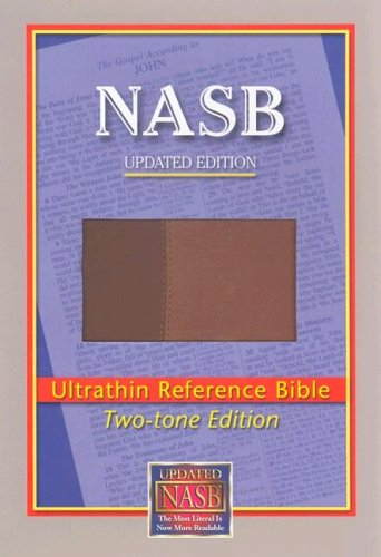 9781581351330: NASB Ultrathin Reference Bible (Brown/Light Brown, Leathertex Two-Tones)
