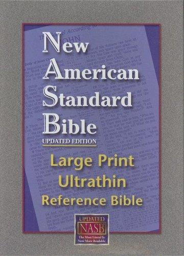 9781581351361: NASB Large Print Ultrathin Reference Bible (Black, Bonded Leather)