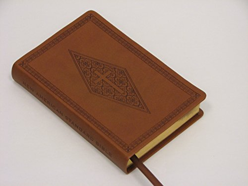 9781581351415: NASB Compact Bible, Brown Diamond/Cross, LT