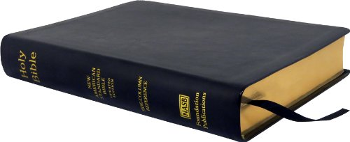 NASB Side-Column Reference Wide Margin Bible; Black: Foundation, The Lockman