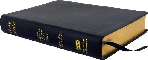 9781581351583: NASB Side-Column Reference Wide Margin Bible; Black Leathertex
