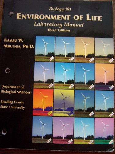 9781581524536: Environment Of Life Laboratory Manual (For Bowling Green State University)