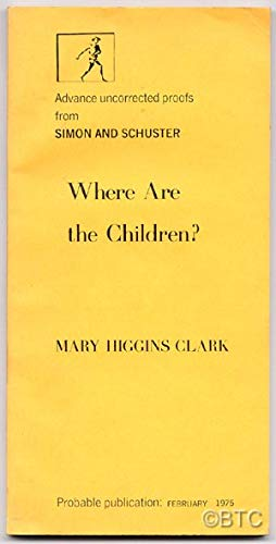 Where are the Children? (9781581650594) by Mary Higgins Clark