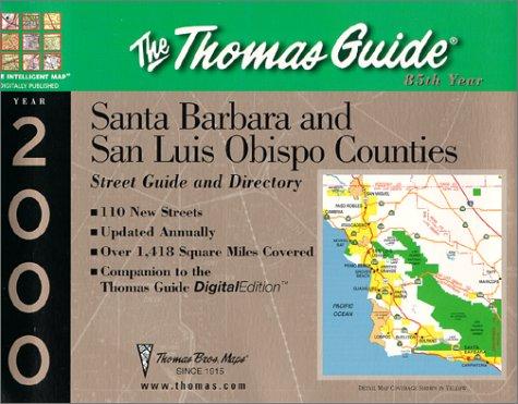 Santa Barbara & San Luis Obispo: Thomas Brothers Maps, Thomas Bros Maps
