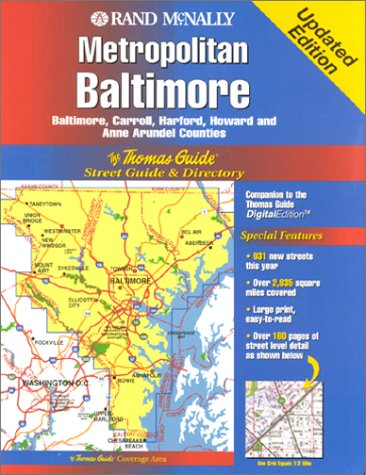 9781581742121: Thomas Guide Metropolitan Baltimore: Baltimore, Carroll, Harford, Howard and Anne Arundel Counties (Thomas Guides (Maps))