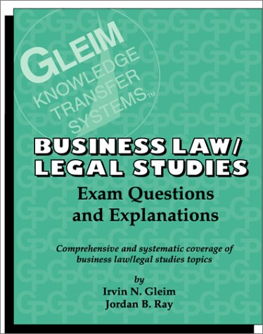 9781581940305: Business Law and Legal Studies: Exam Questions and Explanations