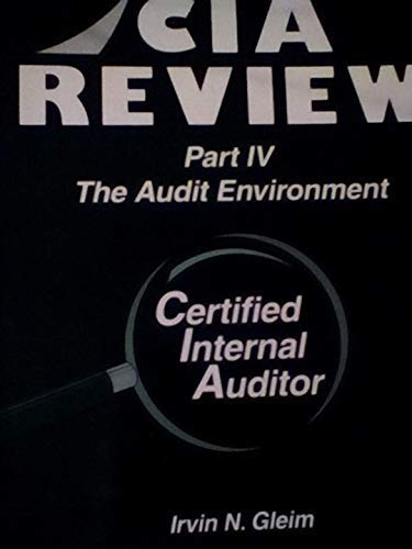 9781581941227: CIA Review, Part 4: The Audit Environment, Ninth Edition