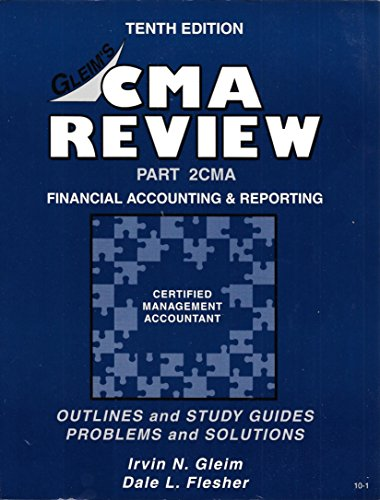 9781581941241: CMA/CFM Review Part 2CMA: Financial Accounting and Reporting, Tenth Edition