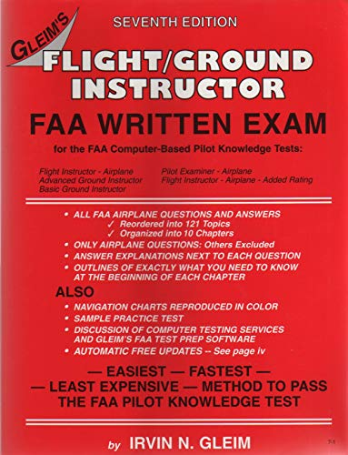 9781581941722: Flight/Ground Instructor FAA Written Exam(Updated Edition)
